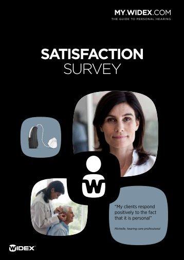 satisfaction survey - Widex