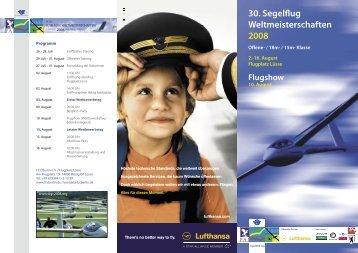 30. Segelflug Weltmeisterschaften 2008 - WGC 2008, Lüsse Germany