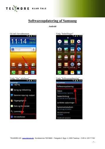 Softwareopdatering af Samsung - Telmore