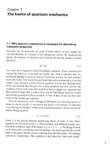 The basics of quantum mechanics