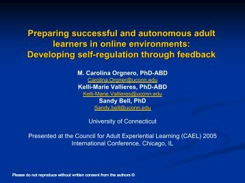 Preparing successful and autonomous adult learners in online ...
