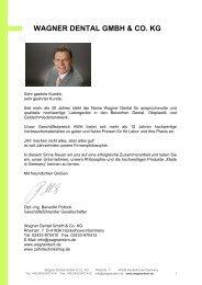 Katalog 2013 - Wagner Dental GmbH & Co. KG