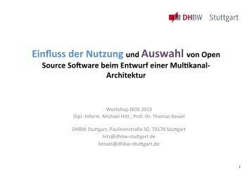 Entwurf einer Multikanal-Architektur und Einfluss der Nutzung von ...