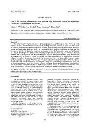 Effects of Bacillus thuringiensis var. kurstaki and medicinal plants on ...