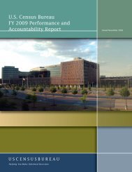 U.S. Census Bureau FY 2009 Performance and Accountability Report