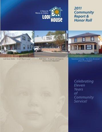 Lodi House 2011 Annual Report 1-12