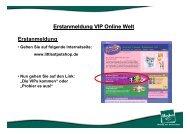 Erstanmeldung VIP Online Welt - Hasbro