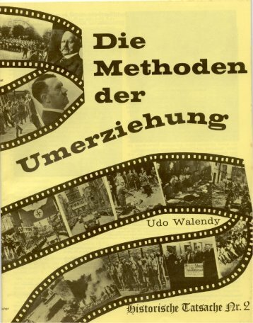 Nr. 02 - Udo Walendy - Die Methoden der Umerziehung
