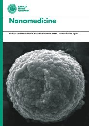 Nanomedicine - European Science Foundation