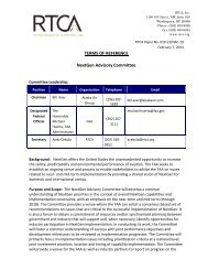 TERMS OF REFERENCE NextGen Advisory Committee - RTCA
