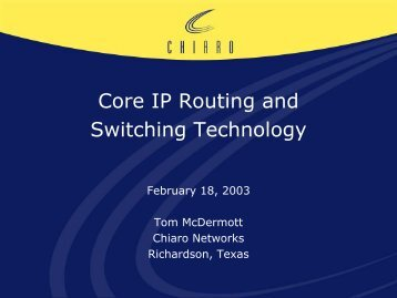 Core IP Routing and Switching Technology - Cvt-dallas.org