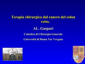 Colon retto - Cattedra Chirurgia Tor Vergata
