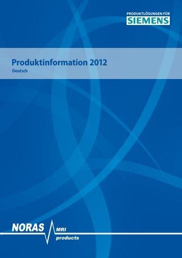 NORAS Prospekt SIEMENS 2012 EN - NORAS MRI products GmbH