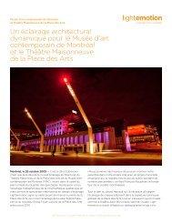 Un éclairage architectural dynamique pour le Musée ... - Lightemotion