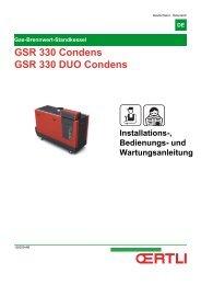 GSR 330 Condens GSR 330 DUO Condens - Oertli
