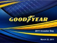 2011 Investor Day - Goodyear Tires
