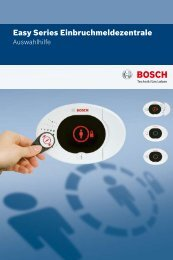 Easy Series Einbruchmeldezentrale - Bosch Security Systems