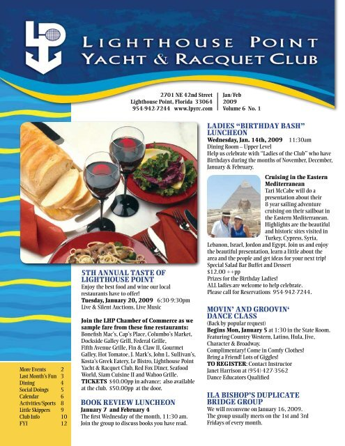 """Ladies """"Birthday Bash"""" - Lighthouse Point Yacht and Racquet Club"""