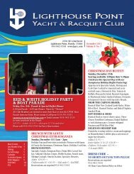 December 2011 - Lighthouse Point Yacht and Racquet Club