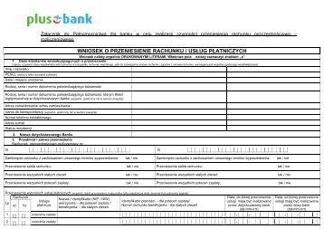 Wniosek o przeniesienie konta - Invest-Bank
