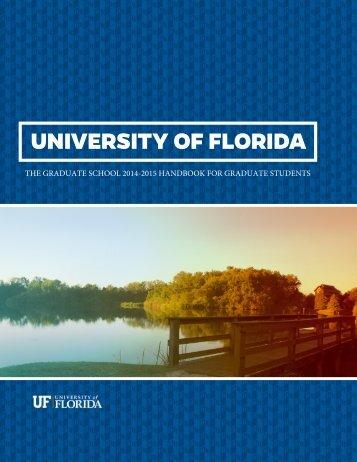 UF Graduate Student Handbook - Graduate School - University of ...