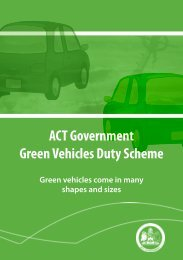 Green Vehicle Brochure - Rego ACT - ACT Government