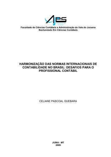 harmonização das normas internacionais de contabilidade no brasil
