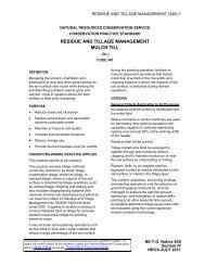 Minimum tillage - Field Office Technical Guide