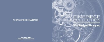 table of contents - Timepiece Collection, Ltd