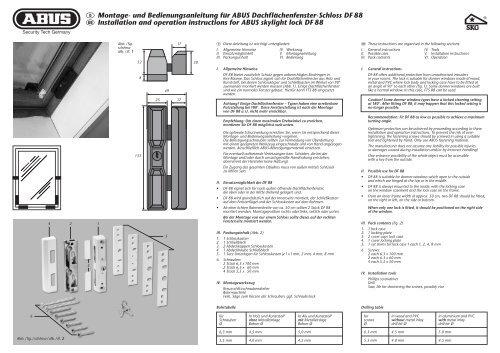 D Montage- und Bedienungsanleitung für ABUS ... - Secusolu.de