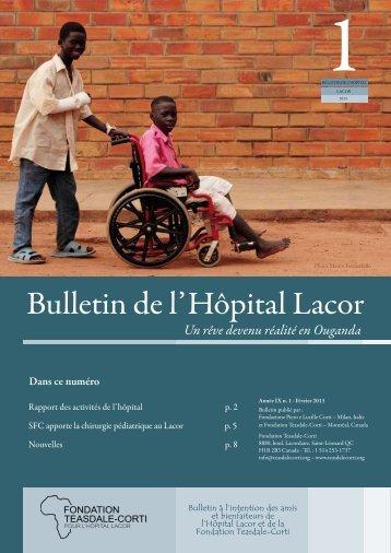 Bulletin du Lacor 1 2013.pdf - Fondazione Corti