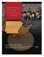 ADHE Performance Funding System Report - Arkansas Department ...
