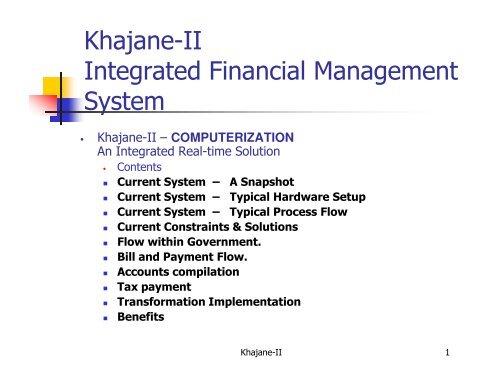 Khajane-II Integrated Financial Management System