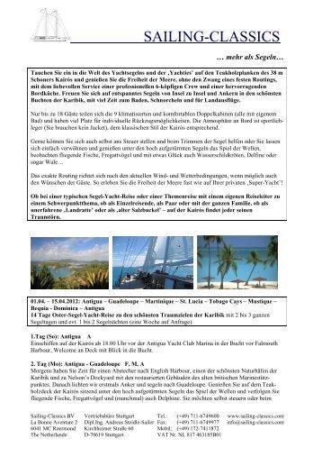 01.04. - 15.04.2012 - Sailing Classics