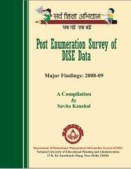 Post Enumeration Survey of DISE Data