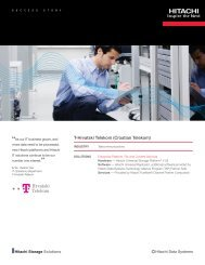 Hitachi Success Story with T-Hrvatski Telekom - Hitachi Data Systems