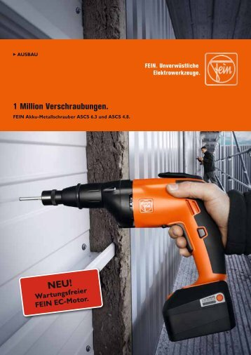 1 Million Verschraubungen. - C. & E. FEIN Gmbh