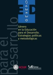 Género en la Educación para el Desarrollo. Estrategias políticas y ...