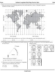 Latitude and Longitude/ Field Map Practice Quiz