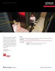 Hitachi Success Story with CGI - Hitachi Data Systems