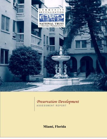 assessment report - City of Miami: Historic Preservation