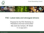 FSC: Latest data and strongest drivers - Forest Stewardship Council