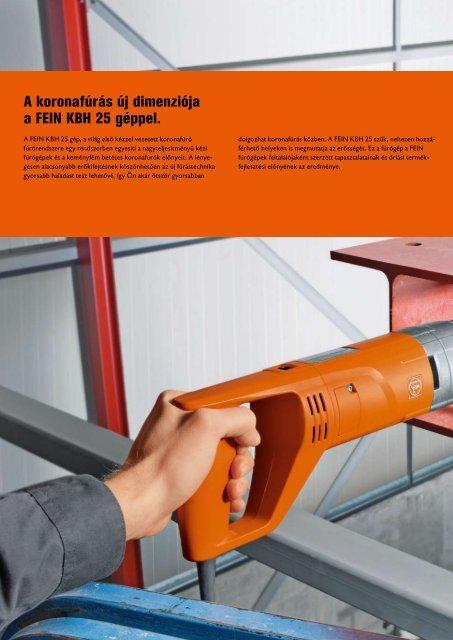 Az új fúrástechnika a gyors és rugalmas ... - C. & E. FEIN Gmbh