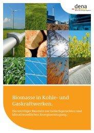 Biomasse in Kohle- und Gaskraftwerken. - Dena
