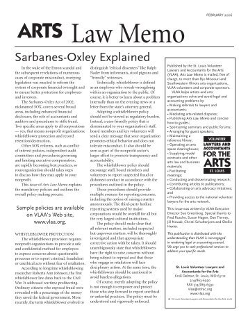 sarbanes oxley memo View essay - eth 321 week 4 sarbanes-oxley and corporate governance  of  the title i of the sarbanes-oxley act, which granted board members two layers of   week 4 - memo - sarbanes-oxley paper university of phoenix law /421.