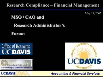 Cost Sharing - UCDavis Accounting & Financial Services