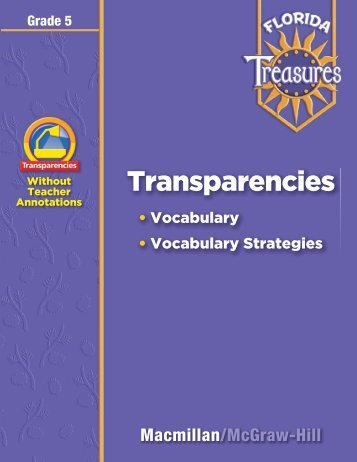 Vocabulary Transparencies - Treasures - Macmillan/McGraw-Hill