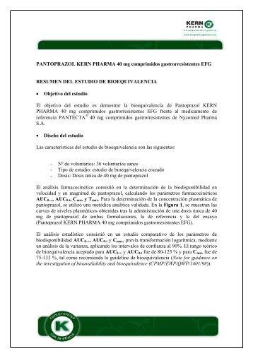 PANTOPRAZOL KERN PHARMA 40 mg comprimidos ...