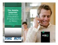 The Mobile Internet: The Potential of Handhelds to Bring Internet to ...