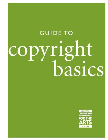 Copyright Basics - St. Louis Volunteer Lawyers and Accountants for ...